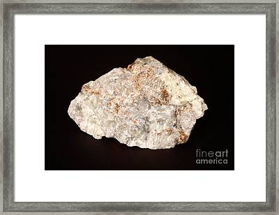 Fluorescent Wernerite Scapolite Framed Print by Ted Kinsman