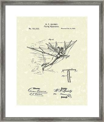 Flying Apparatus 1872 Patent Art Framed Print