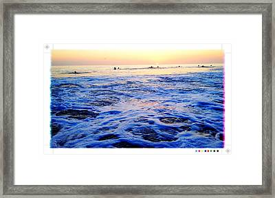 Foamy Sunset Framed Print by Sebastian Acevedo