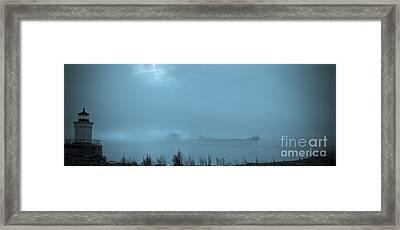Foggy Morn Framed Print by David Bishop