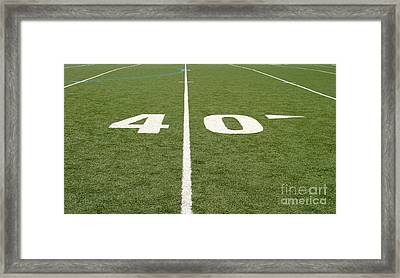 Football Field Forty Framed Print