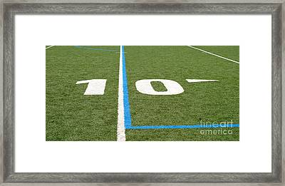 Framed Print featuring the photograph Football Field Ten by Henrik Lehnerer