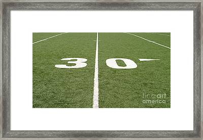 Framed Print featuring the photograph Football Field Thirty by Henrik Lehnerer