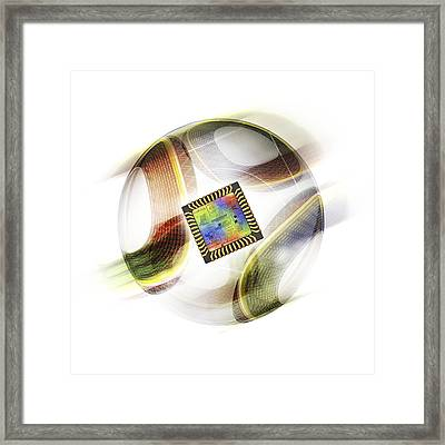 Football With Chip Framed Print