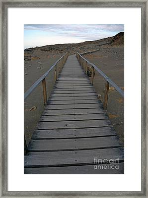 Footbridge On Volcanic Landscape Framed Print by Sami Sarkis