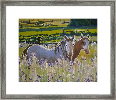 Framed Print featuring the painting for Pamela by Julie Todd-Cundiff