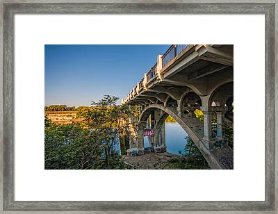 Framed Print featuring the photograph Ford Parkway Bridge by Tom Gort