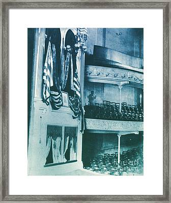 Fords Theater, Lincoln Assassination Framed Print