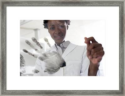 Forensic Scientist Framed Print by