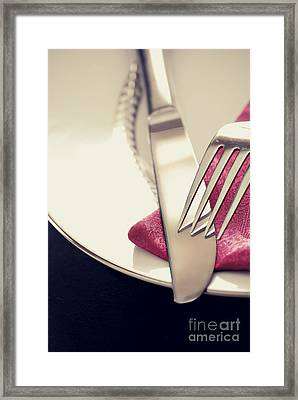 Fork And Knife Framed Print by HD Connelly