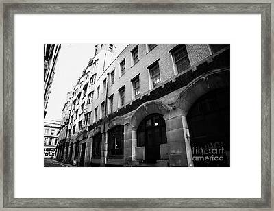 Former Daily Record Building Designed By Charles Rennie Mackintosh In Renfield Lane Glasgow Scotland Framed Print by Joe Fox