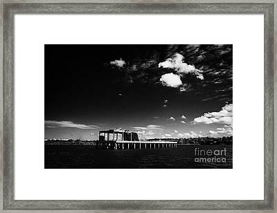 former world war 2 II torpedo production testing station now a  common tern colony nature reserve Framed Print by Joe Fox