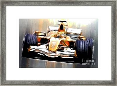 Formula One Framed Print by Jerry L Barrett