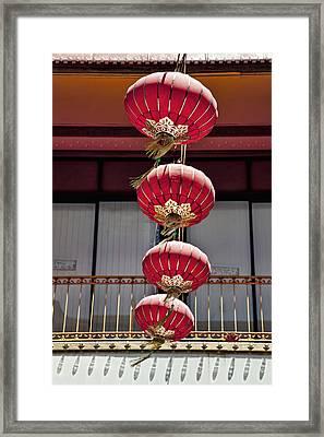 Four Lanterns Framed Print by Kelley King