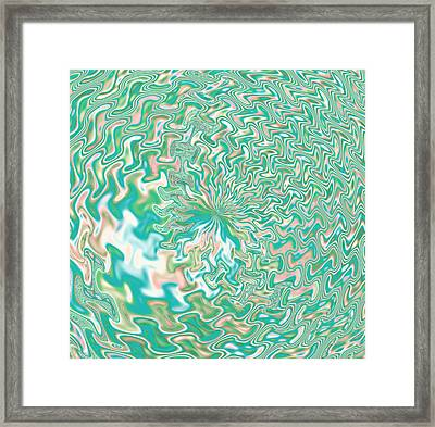Fractal Abstract Flower Framed Print by Gina Lee Manley