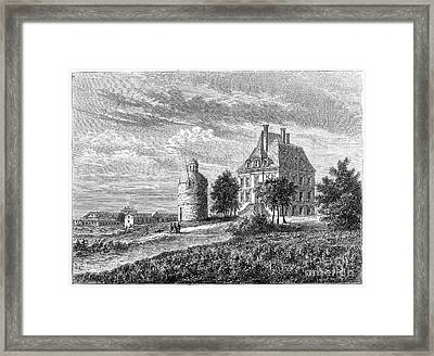 France: Wine Ch�teau, 1868 Framed Print by Granger