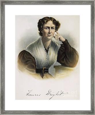 Frances Wright (1795-1852) Framed Print by Granger