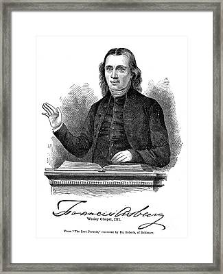 Francis Asbury (1745-1816) Framed Print by Granger