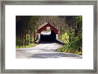 Frankenfield Covered Bridge Framed Print by Elsa Marie Santoro