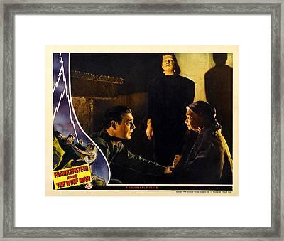 Frankenstein Meets The Wolf Man, Main Framed Print by Everett