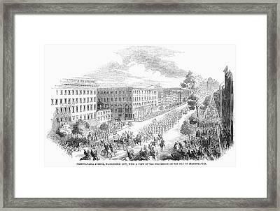 Franklin Pierce Framed Print by Granger