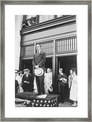 Franklin Roosevelt, Not Yet Forty Years Framed Print by Everett