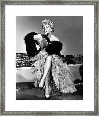 Frenchie, Shelley Winters, 1950 Framed Print by Everett