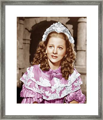 Frenchmans Creek, Joan Fontaine, 1944 Framed Print by Everett