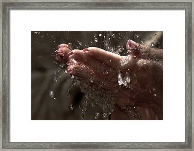 Fresh Splash  Framed Print by Jenny Rainbow