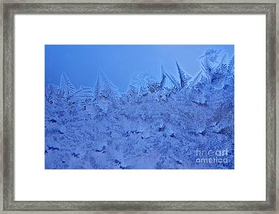 Frost On A Windowpane Framed Print by Thomas R Fletcher