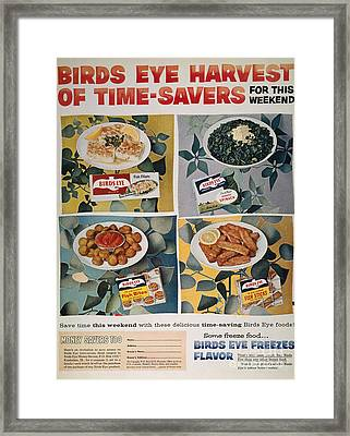 Frozen Food Ad, 1957 Framed Print by Granger