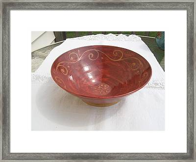 Fruit Bowl Shino Framed Print by Monika Hood