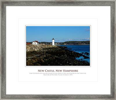 Ft Constitution - Nh Seacoast Framed Print by Jim McDonald Photography