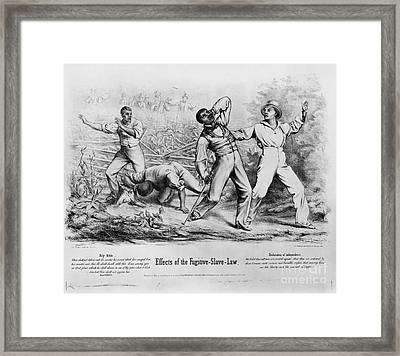 Fugitive Slave Law Framed Print by Photo Researchers