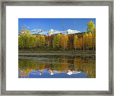 Full Moon Over East Beckwith Mountain Framed Print by Tim Fitzharris