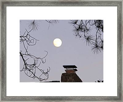 Full Moon Framed Print by Valia Bradshaw