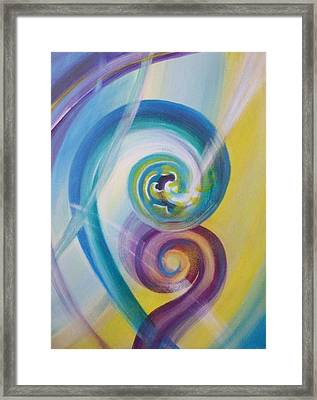 Fusion Framed Print by Reina Cottier