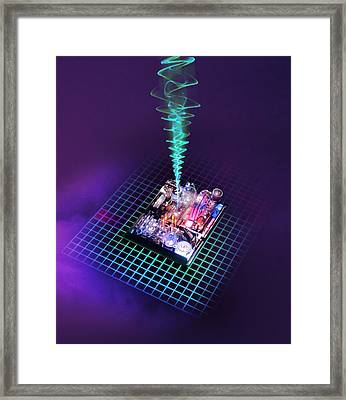 Future Computing, Conceptual Image Framed Print by Richard Kail