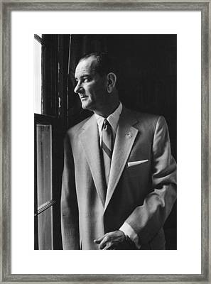 Future President Lyndon Johnson Framed Print by Everett