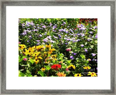 Gail's Garden Framed Print