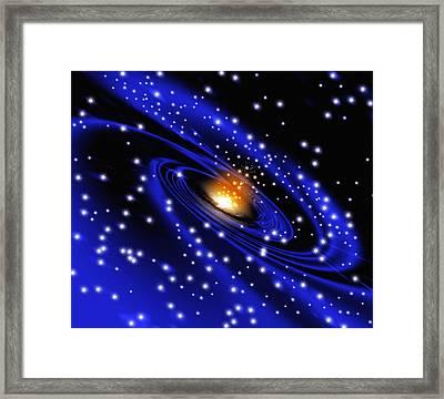 Galaxy Formation, Computer Artwork Framed Print