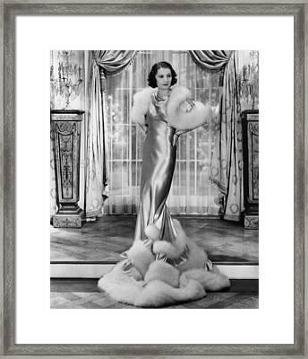 Gambling Lady, Barbara Stanwyck, 1934 Framed Print