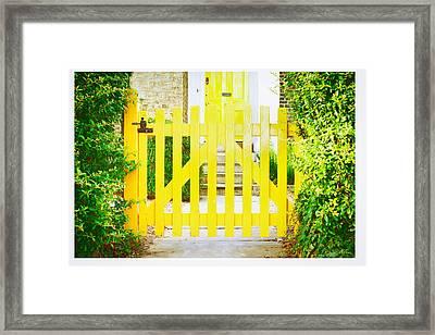 Garden Gate Framed Print by Tom Gowanlock