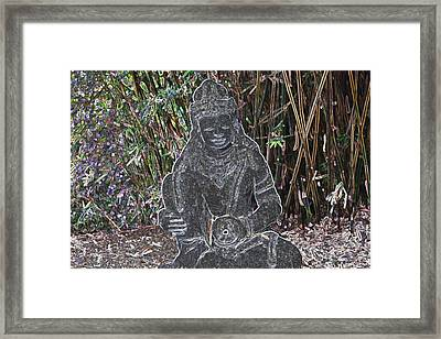 Framed Print featuring the photograph Garden Goddess by Donna  Smith
