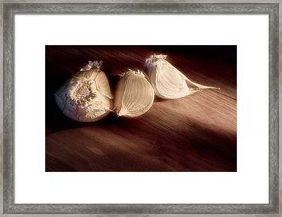 Garlic Cloves Framed Print by Tom Mc Nemar