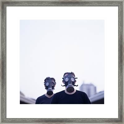 Gas Masks Framed Print by Cristina Pedrazzini