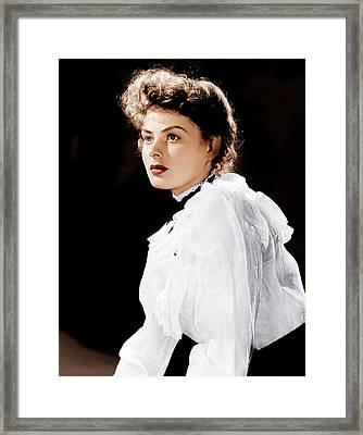 Gaslight, Ingrid Bergman, 1944 Framed Print by Everett