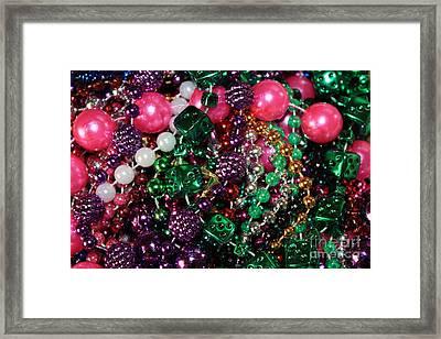 Gasparilla Beads Framed Print by Carol Groenen
