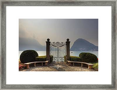Gateway To The Lake Of Lugano Framed Print