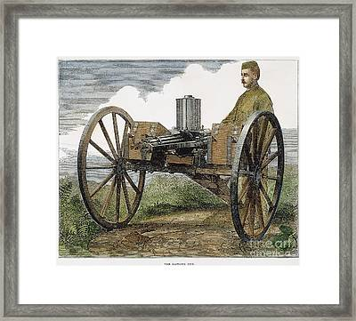 Gatling Gun, 1872 Framed Print by Granger